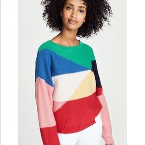 Joie Megu Multi Color / Colorblock Sweater Medium
